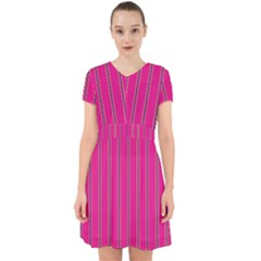 Pink Line Vertical Purple Yellow Fushia Adorable In Chiffon Dress by Mariart