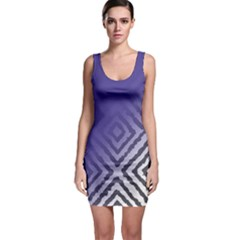 Plaid Blue White Bodycon Dress by Mariart