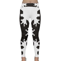 Snowflakes Black Classic Yoga Leggings by Mariart