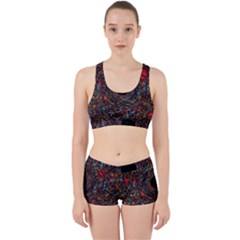 Space Star Light Black Hole Work It Out Sports Bra Set by Mariart
