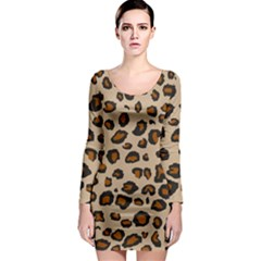 Leopard Print Long Sleeve Bodycon Dress by TRENDYcouture