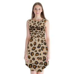 Leopard Print Sleeveless Chiffon Dress   by TRENDYcouture