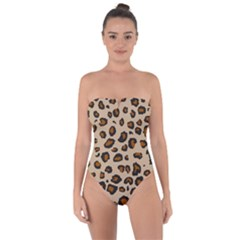 Leopard Print Tie Back One Piece Swimsuit by TRENDYcouture