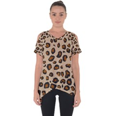 Leopard Print Cut Out Side Drop Tee by TRENDYcouture