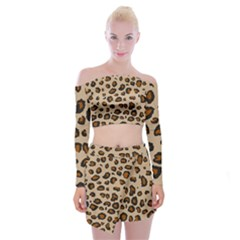 Leopard Print Off Shoulder Top With Skirt Set by TRENDYcouture