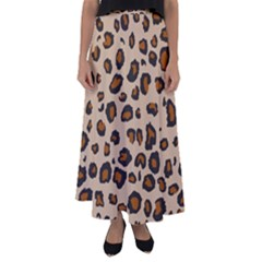 Leopard Print Flared Maxi Skirt by TRENDYcouture