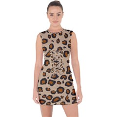 Leopard Print Lace Up Front Bodycon Dress by TRENDYcouture