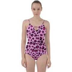 Pink Leopard Cut Out Top Tankini Set by TRENDYcouture