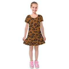 Dark Leopard Kids  Short Sleeve Velvet Dress by TRENDYcouture