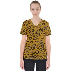 Golden Leopard Scrub Top by TRENDYcouture