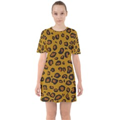 Classic Leopard Sixties Short Sleeve Mini Dress by TRENDYcouture