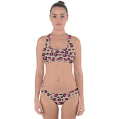 Pink Leopard 2 Cross Back Hipster Bikini Set by TRENDYcouture