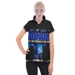 Black Star Trek Tee Women s Button Up Puffer Vest by GlamourG33k