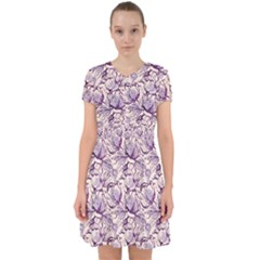Vegetable Cabbage Purple Flower Adorable In Chiffon Dress by Mariart