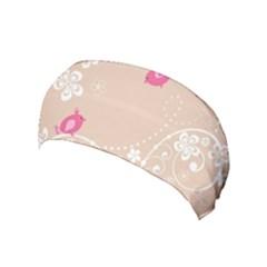 Flower Bird Love Pink Heart Valentine Animals Star Yoga Headband by Mariart