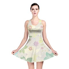 Flower Rainbow Star Floral Sexy Purple Green Yellow White Rose Reversible Skater Dress by Mariart