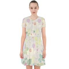 Flower Rainbow Star Floral Sexy Purple Green Yellow White Rose Adorable In Chiffon Dress by Mariart