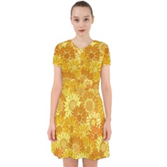 Flower Sunflower Floral Beauty Sexy Adorable In Chiffon Dress by Mariart