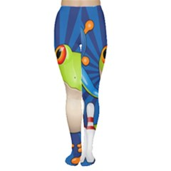 Tree Frog Bowling Women s Tights by crcustomgifts
