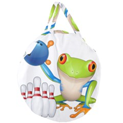 Tree Frog Bowler Giant Round Zipper Tote