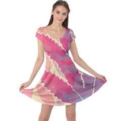 Marijuana Heart Cannabis Rainbow Pink Cloud Cap Sleeve Dress by Mariart