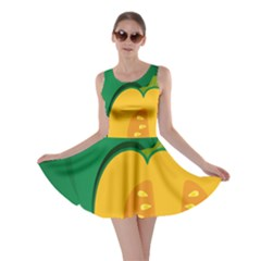 Pumpkin Peppers Green Yellow Skater Dress by Mariart