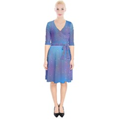 Rain Star Planet Galaxy Blue Sky Purple Blue Wrap Up Cocktail Dress by Mariart