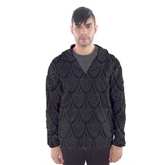 Skin Abstract Wallpaper Dump Black Flower  Wave Chevron Hooded Wind Breaker (men)