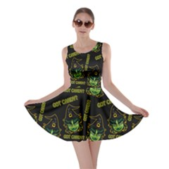 Pattern Halloween Witch Got Candy? Icreate Skater Dress by iCreate