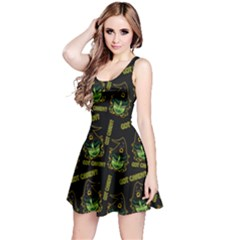 Pattern Halloween Witch Got Candy? Icreate Reversible Sleeveless Dress by iCreate