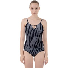 Skin3 Black Marble & Gray Leather (r) Cut Out Top Tankini Set by trendistuff
