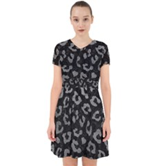 Skin5 Black Marble & Gray Leather (r) Adorable In Chiffon Dress by trendistuff