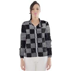 Square1 Black Marble & Gray Leather Wind Breaker (women) by trendistuff