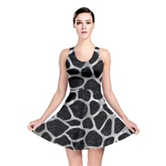 Skin1 Black Marble & Gray Metal 2 (r) Reversible Skater Dress by trendistuff
