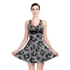 Skin5 Black Marble & Gray Stone Reversible Skater Dress by trendistuff