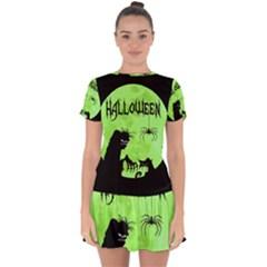 Halloween Drop Hem Mini Chiffon Dress by Valentinaart