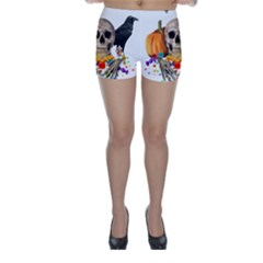 Halloween Candy Keeper Skinny Shorts by Valentinaart
