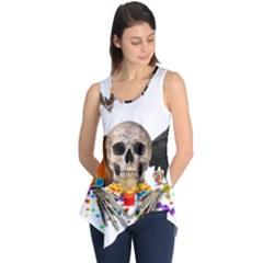 Halloween Candy Keeper Sleeveless Tunic by Valentinaart