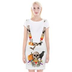 Halloween Candy Keeper Braces Suspender Skirt by Valentinaart