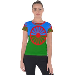 Gypsy Flag Short Sleeve Sports Top  by Valentinaart