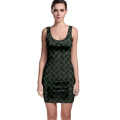 Brick2 Black Marble & Green Leather Bodycon Dress by trendistuff