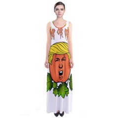 Trump Or Treat  Sleeveless Maxi Dress by Valentinaart