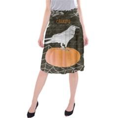 Vintage Halloween Midi Beach Skirt by Valentinaart