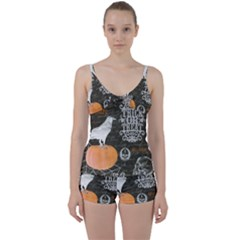 Vintage Halloween Tie Front Two Piece Tankini by Valentinaart