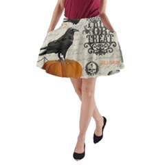 Vintage Halloween A Line Pocket Skirt by Valentinaart