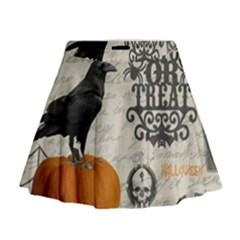 Vintage Halloween Mini Flare Skirt by Valentinaart