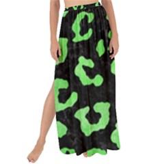 Skin5 Black Marble & Green Watercolor (r) Maxi Chiffon Tie Up Sarong by trendistuff