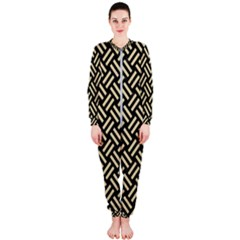 Woven2 Black Marble & Light Sand Onepiece Jumpsuit (ladies)  by trendistuff