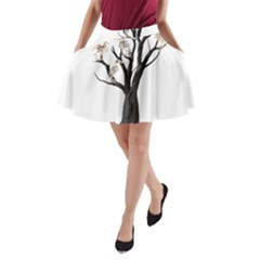 Dead Tree  A Line Pocket Skirt by Valentinaart