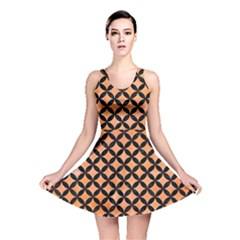 Circles3 Black Marble & Orange Watercolor Reversible Skater Dress by trendistuff